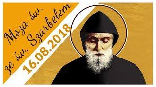 Msza św. ze św. Szarbelem (16.08.2018) - Na żywo