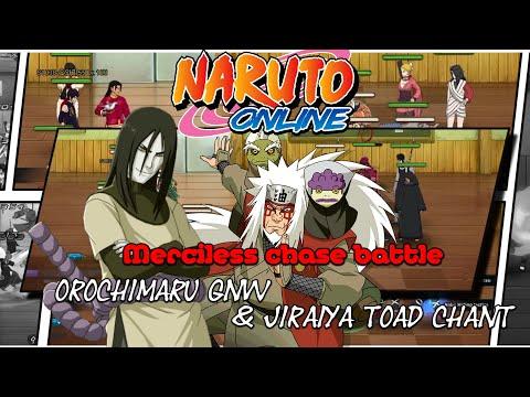 Naruto Online: Merciless chase battle (Orochimaru GNW & Jiraiya Toad Chant)