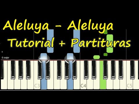 ALELUYA Piano Tutorial Cover Facil + Partitura PDF Sheet Music Easy Midi thumbnail