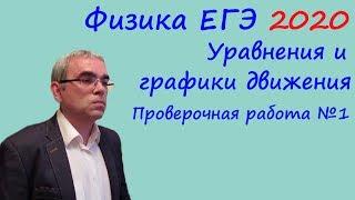 Физика ЕГЭ 2020 Тематическая проверочная работа 1 Уравнения и графики движения