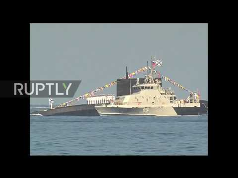Syria: Russian Navy holds parade in waters off Tartus to mark Navy Day