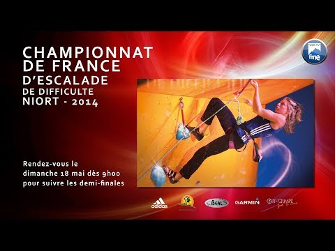 Escalade - Streaming championnat de France de difficulté 2014 (Niort)