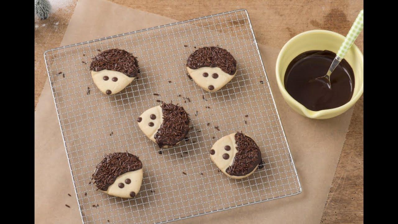 koekjes versieren met chocolade