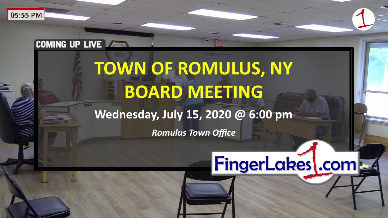 Town of Romulus July Board Meeting 7/15/20 .::. FingerLakes1.com