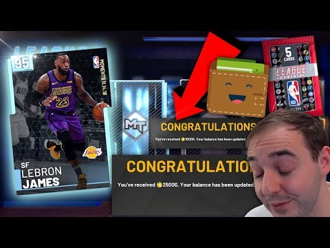 6373b2ad11b3 NBA 2K19 My Team DIAMOND MOMENTS LEBRON JAMES! TRYING TO PULL WITH FREE VC  FROM