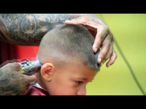 little boys haircut | skin fade- with design