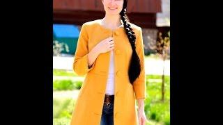 Женское Кашемировое Пальто - фото - 2019 /  Women's cashmere coat - photo