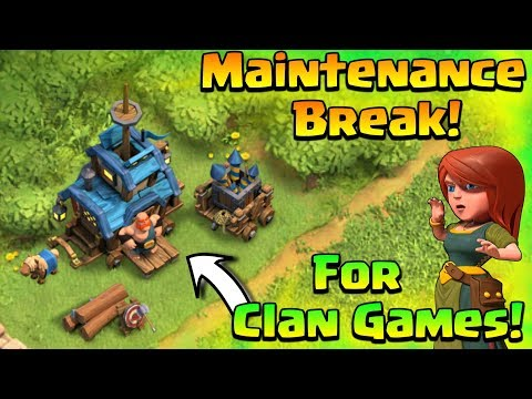 Maintenance Break For Clan Games issue | Be Happy Now😀