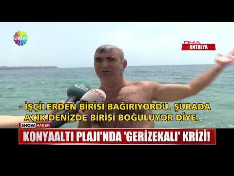 """Konyaaltı Plajı'nda """"Gerizekalı"""" krizi!"""