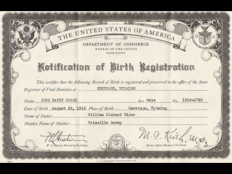 when was the birth certificate invented