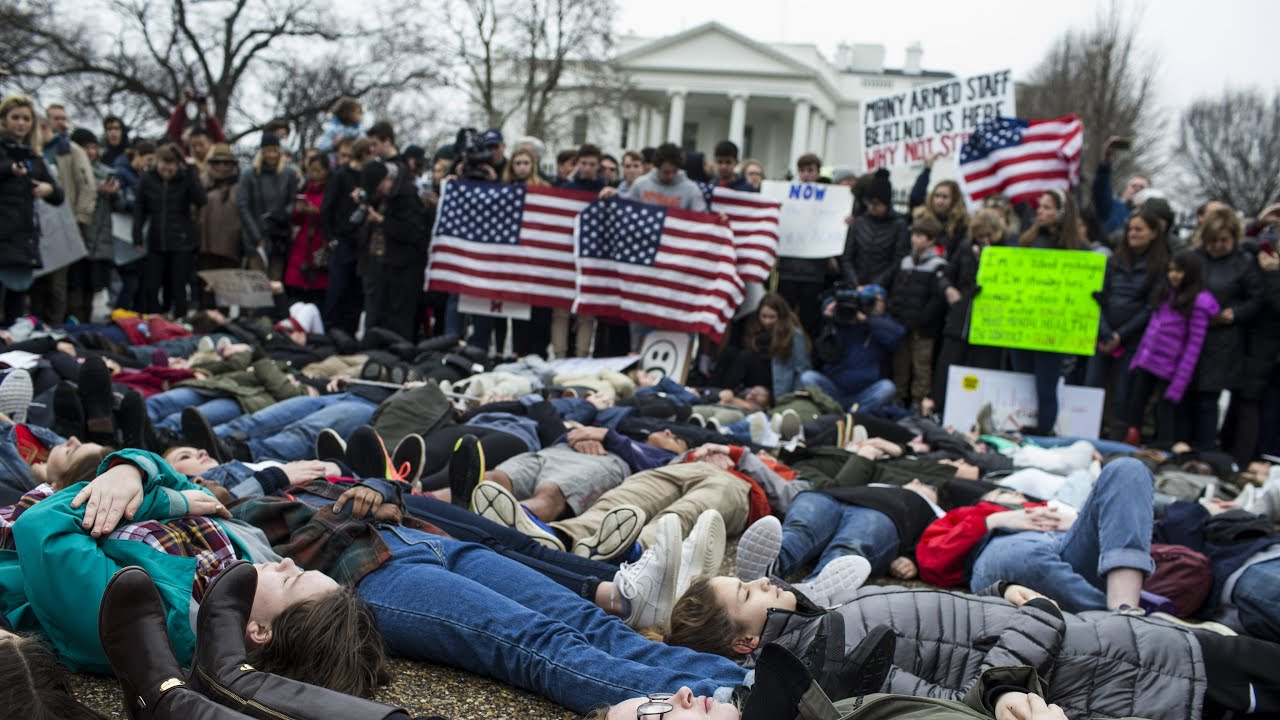 Protect kids, not guns: students stage gun reform protest in front of White House