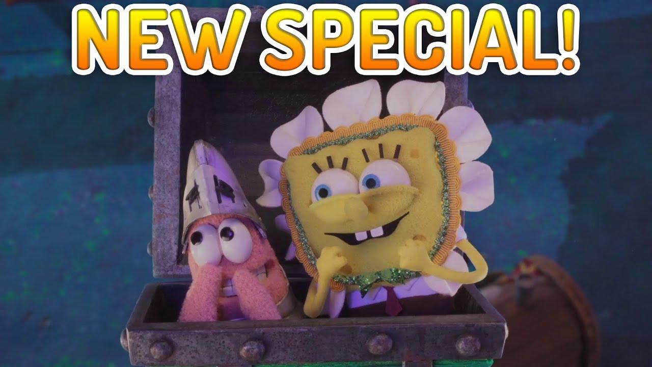 "new spongebob stop motion halloween special ""bookini bottom"