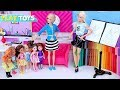 Barbie Girl Profession Artist Learn How to Draw with Barbie Dolls