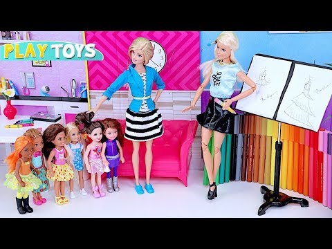 Barbie Girl Profession Artist! 🎀 Learn How to Draw with Barbie Dolls!