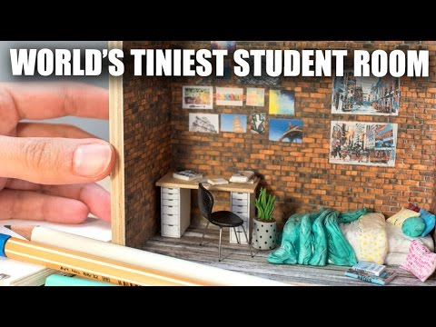Miniature Student Room/Dorm Sculpture // How To Tutorial w. Graphicstock