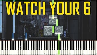 Watch Your 6 (Ennard Boss Fight Music)- FNaF Sister Location [Synthesia Piano Tutorial]
