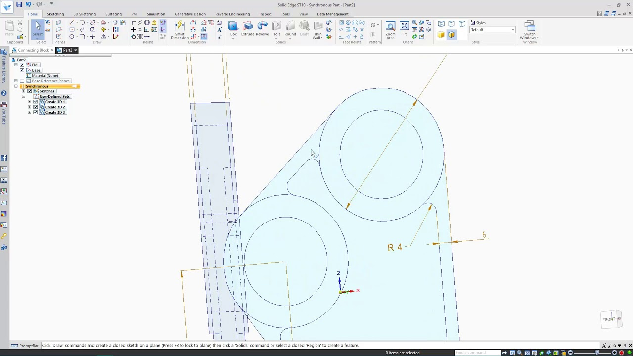 2D AutoCAD to 3D Solid Edge - YouTube