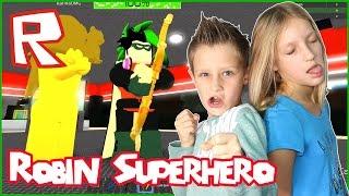 Robin Superhero Shoots God Bow / Roblox Superhero Tycoon