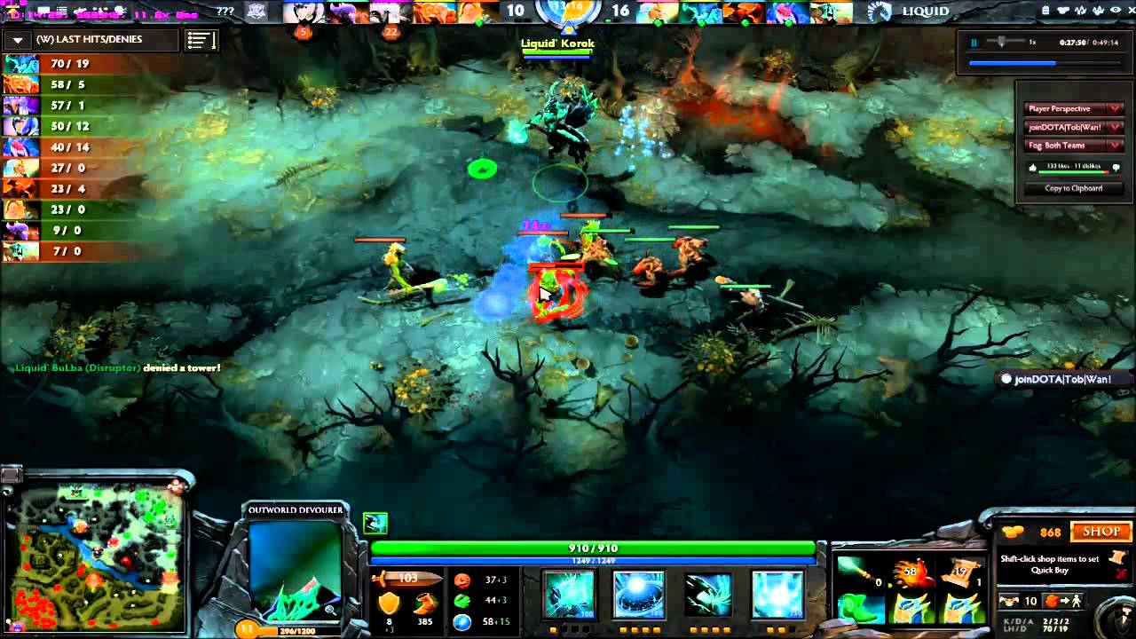 dota 2 outworld devourer by liquid korok pov youtube
