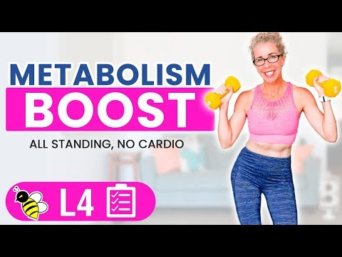 Metabolism Boost in Menopause, 30 Minute STRENGTH TRAINING Workout for Women over 50