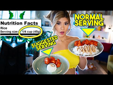 Only Eating Recommended Serving Sizes For A Day