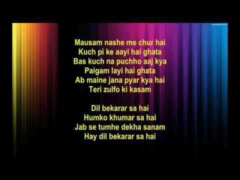 Dil bekaraar Sa hai -  Isharaa 1964 -  Full Karaoke
