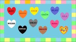 Deutsch lernen: FARBEN - ein Spiel (game - jeu de Kim) / Learn German: Colours Game