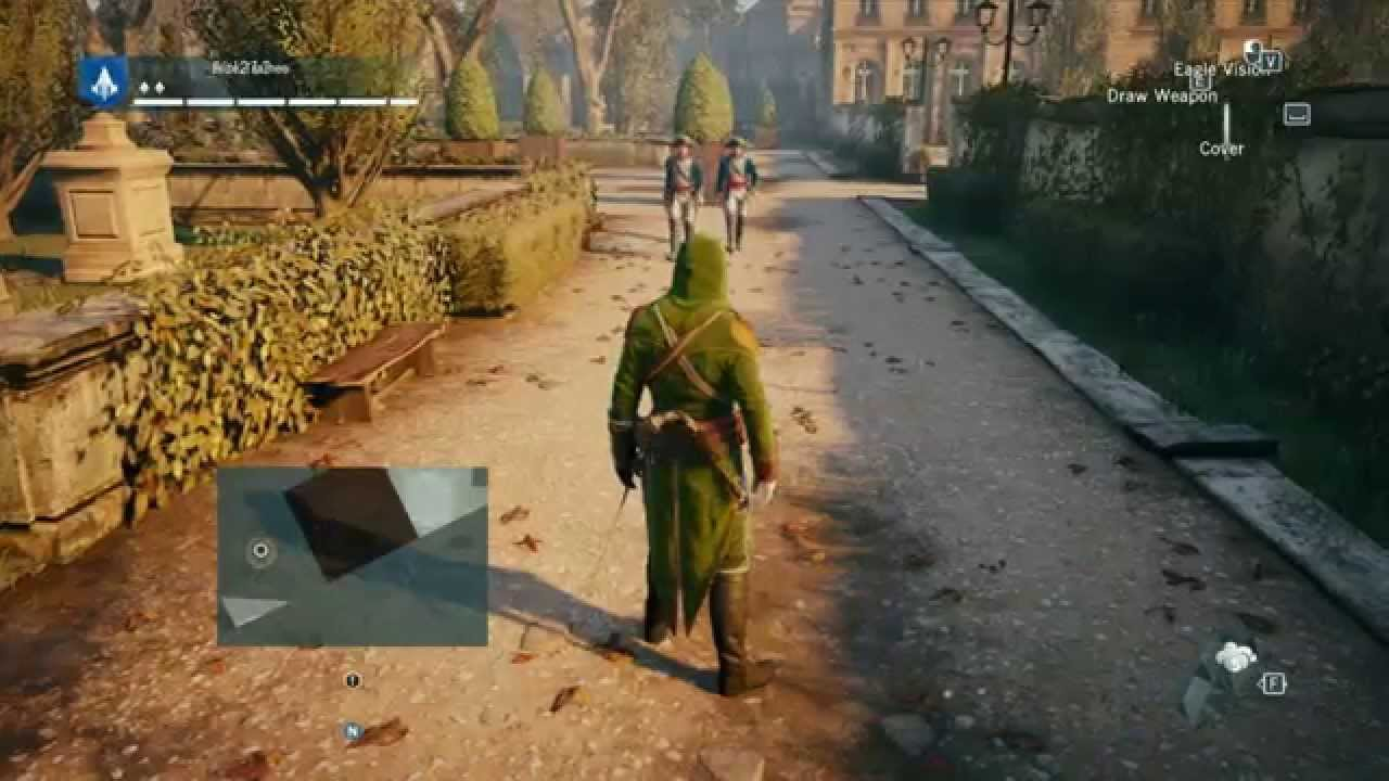 Assassin's Creed Unity HUD,map error
