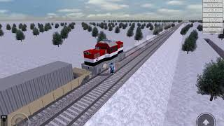 Giltching train (Rails Unlimited)(Roblox)