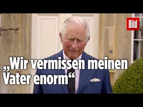 Prinz Philip: Prinz Charles hält eine emotionale Rede zu seinem Tod