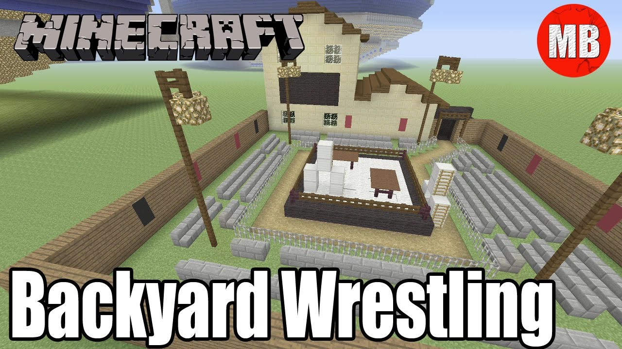 minecraft backyard wrestling arena youtube