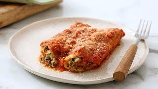 Spinach Manicotti in Creamy Tomato Sauce - Martha Stewart