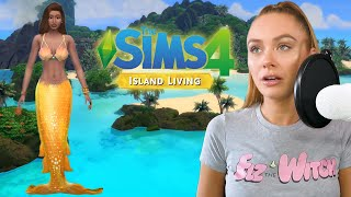NEW - SIMS 4 ISLAND LIVING!! TURNING MY SIM INTO A MERMAID