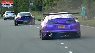 Modified Cars Leaving a Car Show! - 800HP Supra, Widebody Mustang, E30 V8, Novitec 720S, Skyline,...