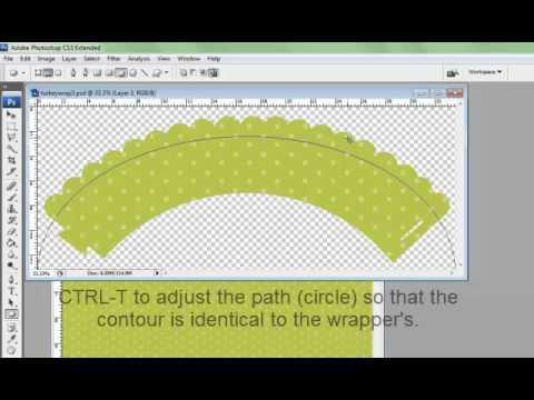 Cupcake Wrer Series How To Create Circular Text With Adobe Photo For The Cricut You
