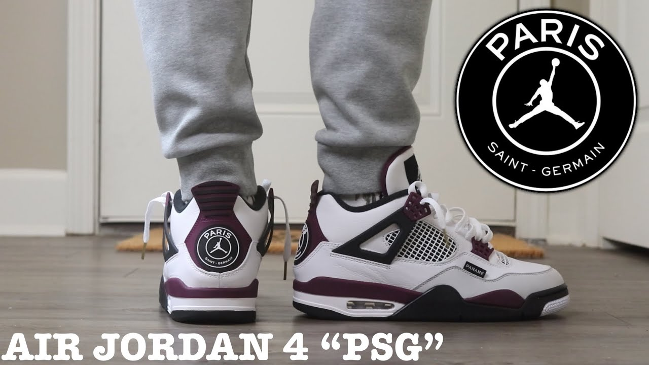 """REVIEW AND ON FEET OF THE AIR JORDAN 4 """"PSG"""" ARE THEY WORTH $225?"""