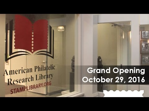 American Philatelic Research Library Grand Opening Ribbon Cutting Oct. 29, 2016