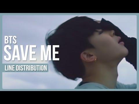 BTS - Save Me Line Distribution (Color Coded)