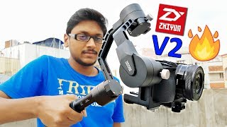 Zhiyun Crane V2 Unboxing & Hands on! Awesome 3 axis Gimbal