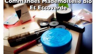 Commandes Mademoisellebio et Eccoverde - Premières Impressions
