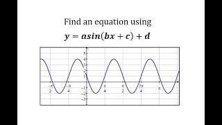 إيجاد معادلة تحويل جيب الدالة: y=كمافي(bx+c)+د (2)