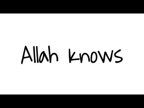 ALLAH Knows - Zain Bhikha (lyrics)