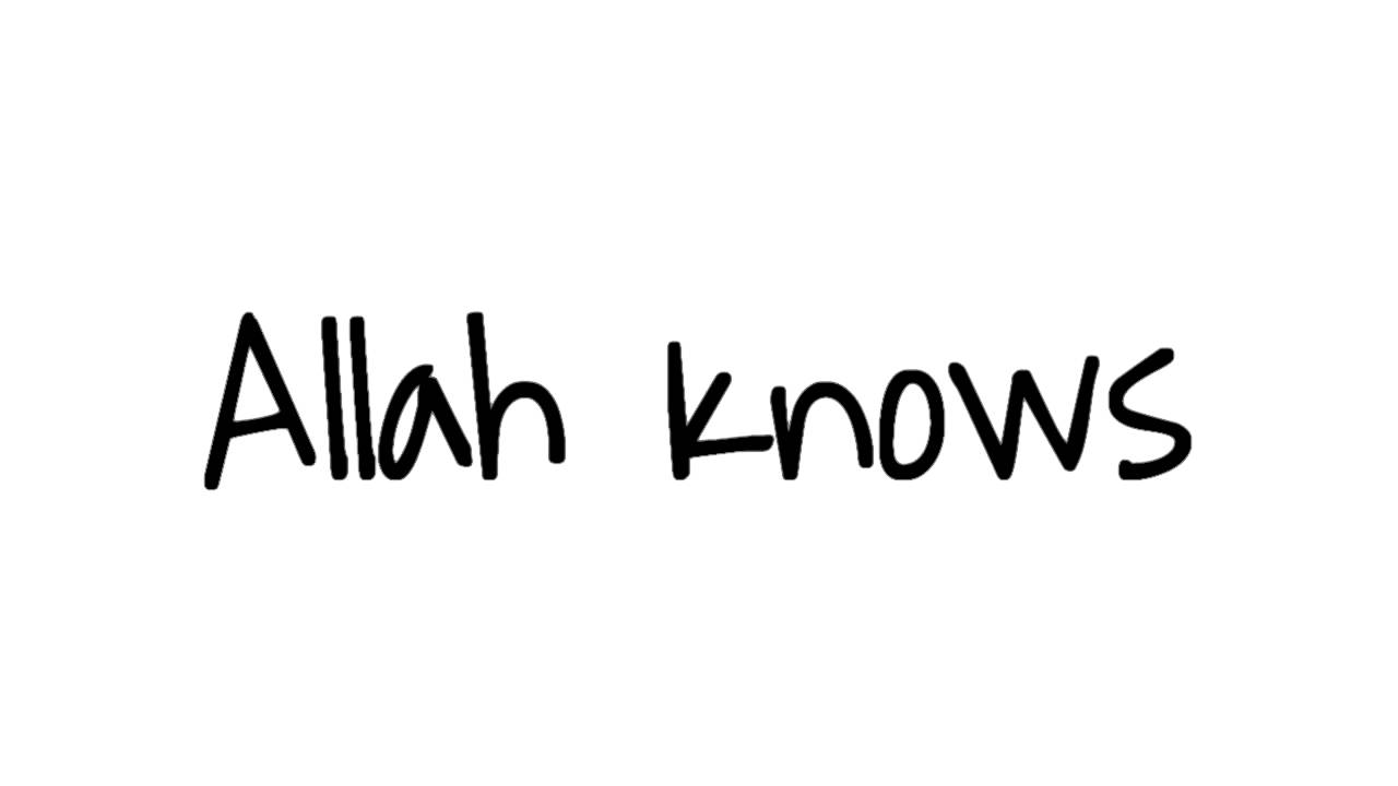 Allah know whats best