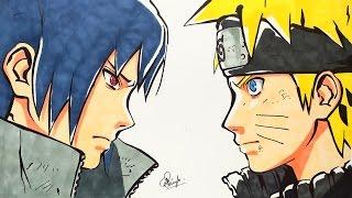 Drawing Naruto VS Sasuke - Final Battle (Requested)