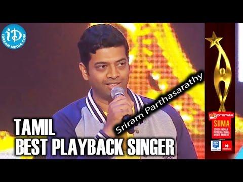SIIMA 2014 Tamil Best Playback Singer Male | Sriram Parthasarathy | Aanandha Yaazhai Song