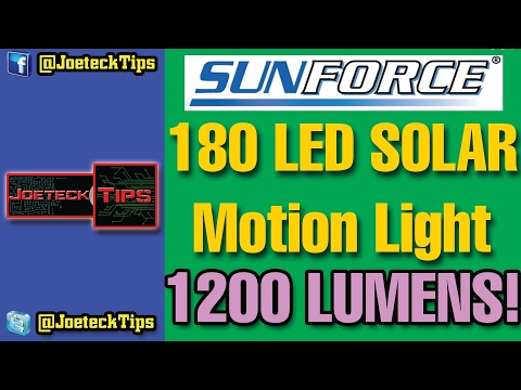 SunForce 180 LED Motion Solar Light 82183 - Very detailed and verbose