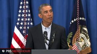 President Obama addresses the situation in Ferguson, Missouri, and U.S. efforts in Iraq