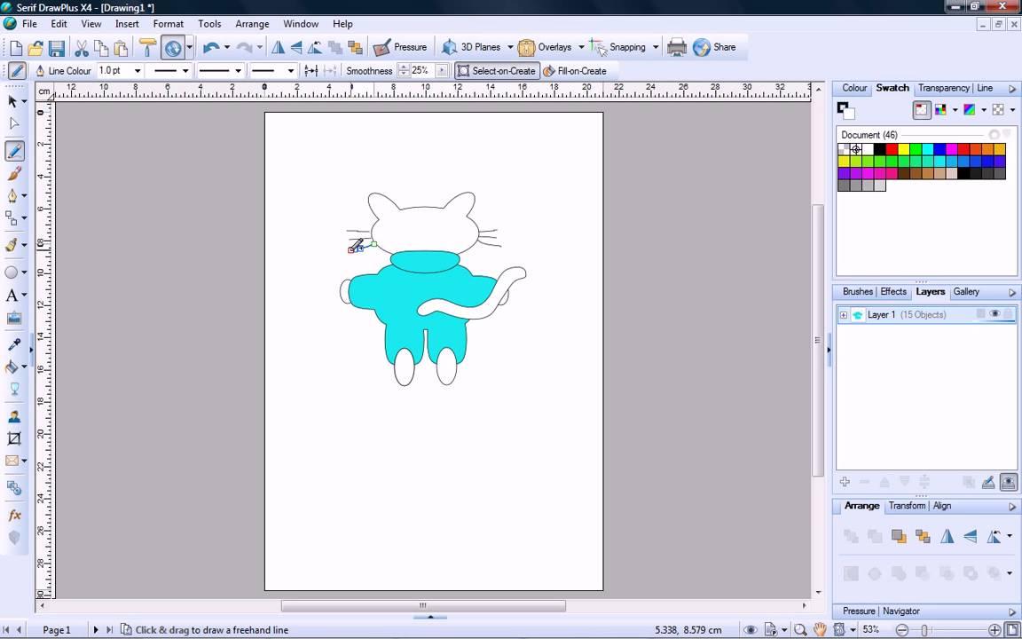 Serif Drawplus X4 Tutorial Creating A Cartoon Character Youtube