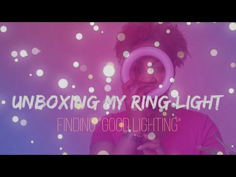 "NEW #Unboxing My Ring Light! | Finding ""Good Lighting "" #RingLight |  #DaBoomLighthin' thumbnail"