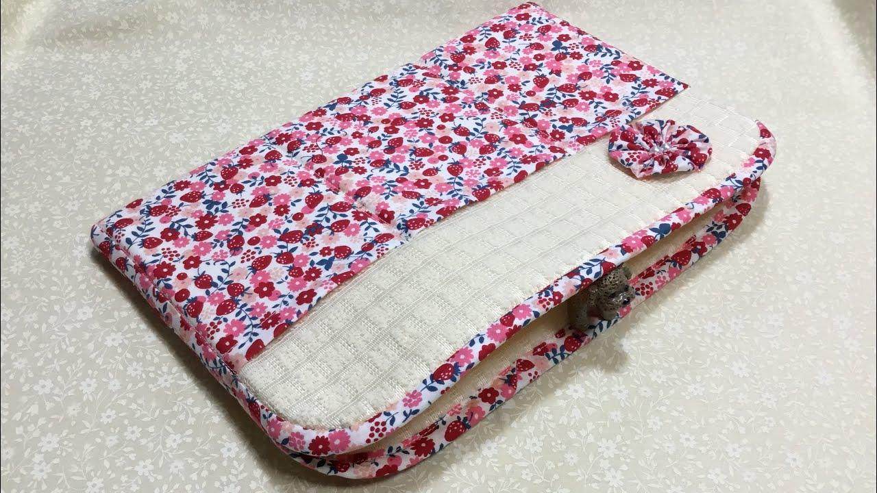 【100均】ミニバスマットを使ったiPad入れの作り方  How to make an iPad case with a 1$ bath mat